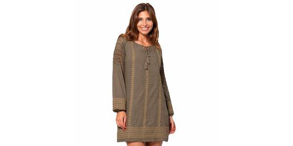 Dámské khaki šaty Janis