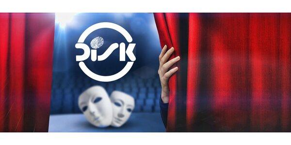 40% sleva na nákup až 4 vstupenek do divadla Disk
