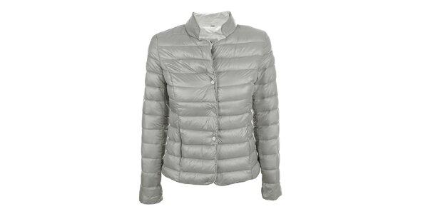 Dámská šedá prošívaná bunda se stojáčkem DJ85°C