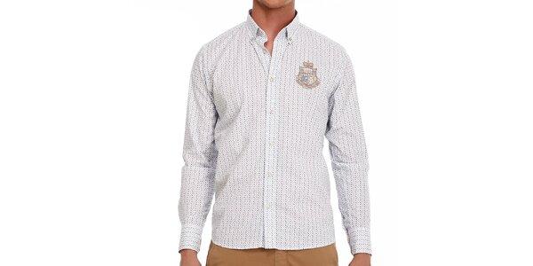 Pánská vzorovaná bavlněná košile Galvanni