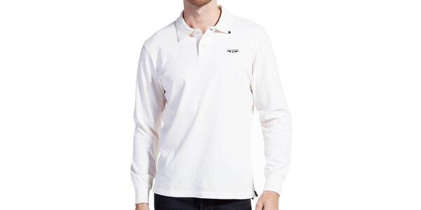 Pánské světlé polo triko s dlouhým rukávem Galvanni