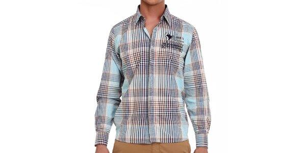 Pánská barevně kostičkovaná košile Galvanni