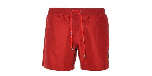 Pánské plavky Kenzo v tmavě červené barvě