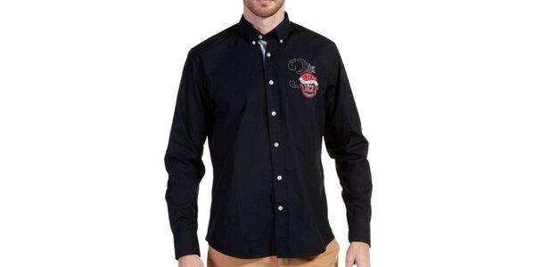 Pánská temně modrá košile Galvanni