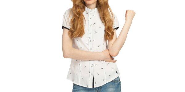 Dámská bílá košile s kotvami Galvanni