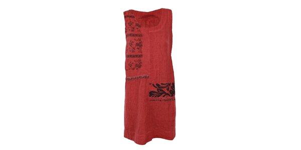 Dámské červené lněné šaty Angels Never Die