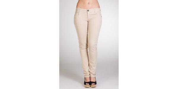 Dámské krémové kalhoty Stix