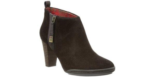 Dámské hnědé kotníčkové boty Tommy Hilfiger