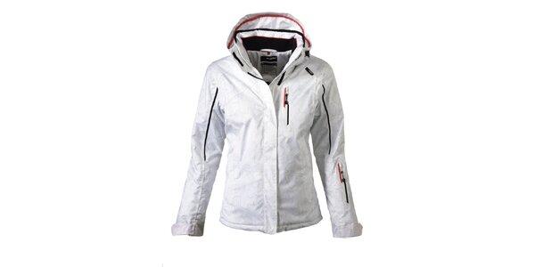 Dámská bílá lyžařská bunda s potiskem Maier