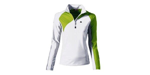 Dámská bílo-zelená sportovní mikina Maier