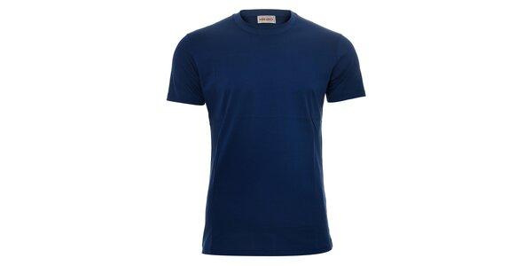 Pánské triko Kenzo v modré barvě s originálním potiskem na zádech