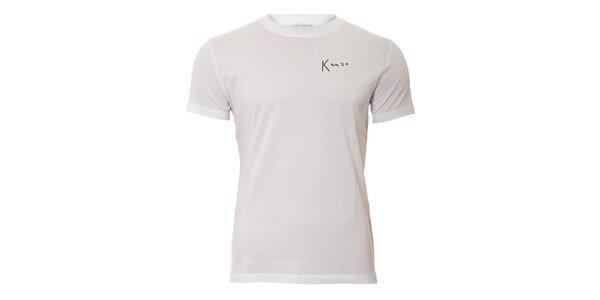 Pánské triko Kenzo v bílé barvě s originálním potiskem na zádech