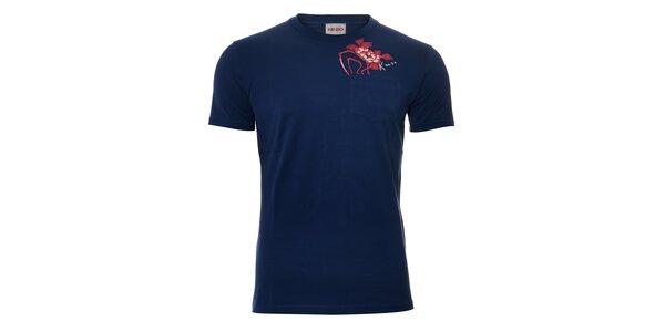 Pánské triko Kenzo v tmavě modré barvě s potiskem