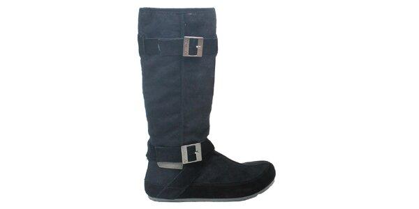 Dámské černé kozačky s přezkami Cubanas Shoes