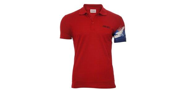 Pánské polo triko Kenzo v tmavě červené barvě