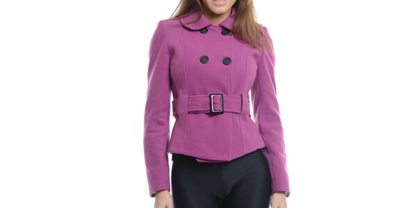 Dámský fialový krátký kabátek Vera Ravenna