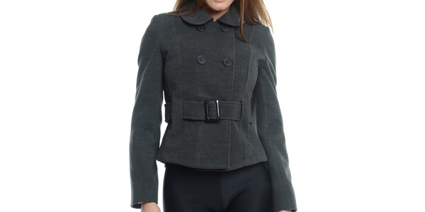 Dámský tmavě šedý krátký kabátek Vera Ravenna