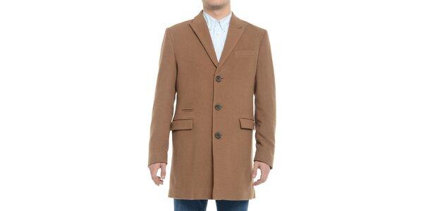 Pánský hnědý kabát Vera Ravenna