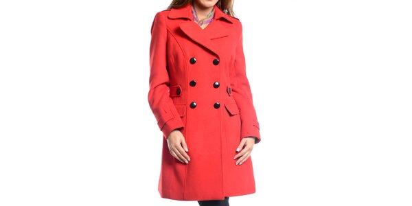 Dámský červený zimní kabát Vera Ravenna