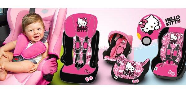 Německé autosedačky s designem Hello Kitty