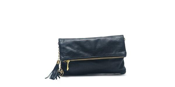 Dámská černá kožená kabelka do ruky Carla Ferreri