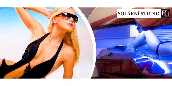 Permanentka do solária s kreditem 1100 Kč