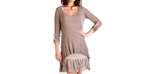Dámský komplet - šaty a svetřík Keysha