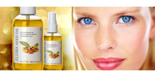 100% organický jojobový olej pro krásnou pokožku (100 ml)