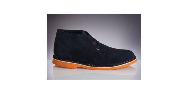 Pánské tmavě modré boty s oranžovou podrážkou Roamers