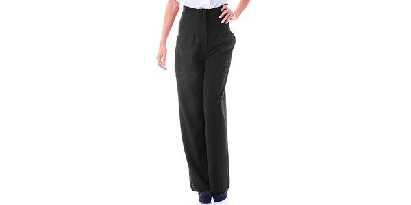 Dámské černé kalhoty s vysokým pasem Berry Couture
