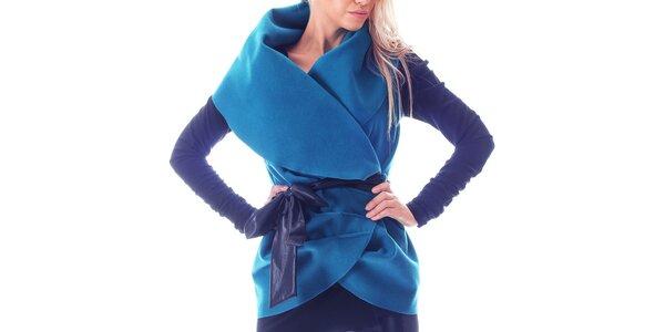 Dámská modrá vesta se stuhou Berry Couture