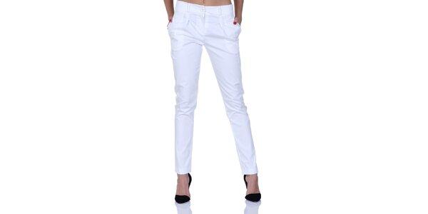 Dámské bílé kalhoty s italskými kapsami Berry Couture