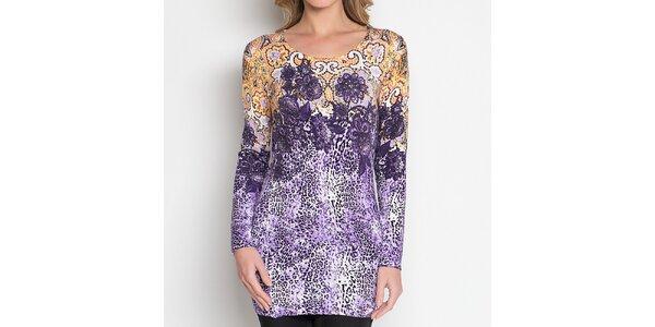 Dámská fialová tunika se vzorem Imagini