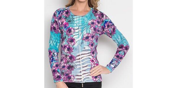 Dámský barevně vzorovaný komplet - svetřík a tričko Imagini