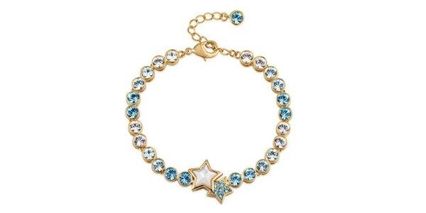Dámský náramek s krystaly Swarovski v modré barvě Mileyna Accesories