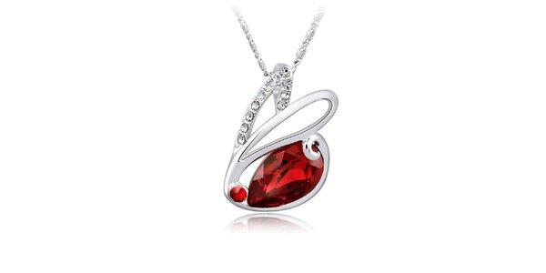 Dámský náhrdelník s velkým červeným krystalem Mileyna Accesories