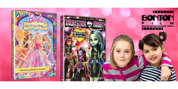 DVD Monster High nebo Barbie