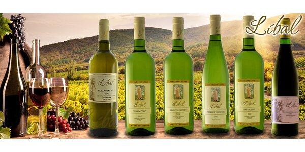 Kolekce šesti chutí z vinařství Líbal