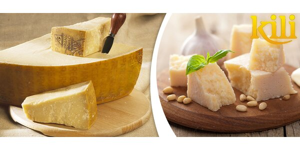 0,5 kg výborného sýra Grana Padano