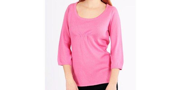 Dámský růžový svetřík s tříčtvrtečními rukávy Emma Pernelle
