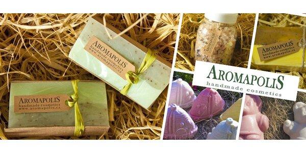 Přírodní mýdla a koupelové soli Aromapolis