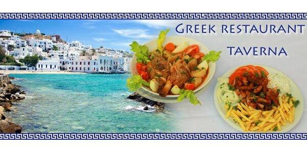 219 Kč za pravou řeckou večeři pro dvě až čtyři osoby.