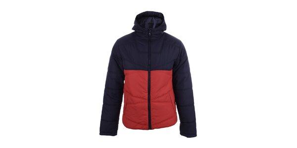 Pánská dvoubarevná bunda s červenou částí Authority