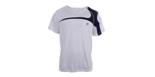 Pánské bílé tričko s černými prvky Authority