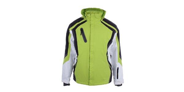 Pánská zelená zimní bunda s černými a bílými prvky Authority