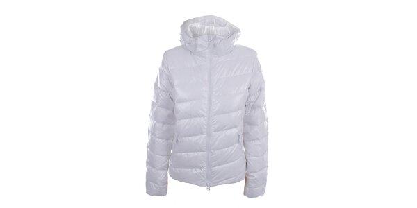 Dámská bílá lesklá bunda s kapucí Authority