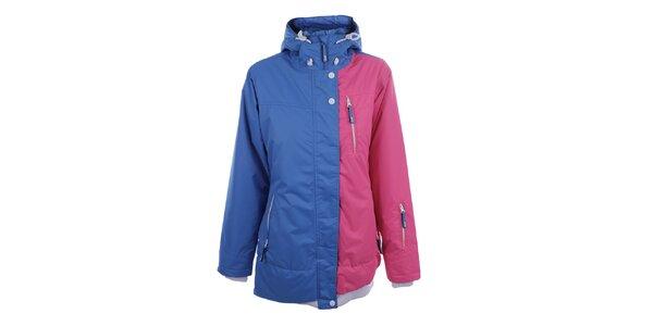 Dámská růžovo-modrá sportovní bunda Authority