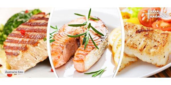 Grilovaný losos, tuňák a treska až pro 3 osoby