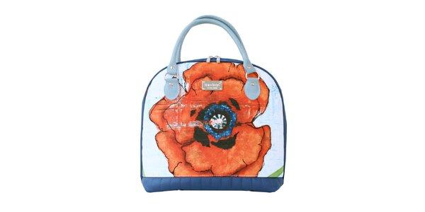 Dámská kabelka s červeným květem Dara Bags