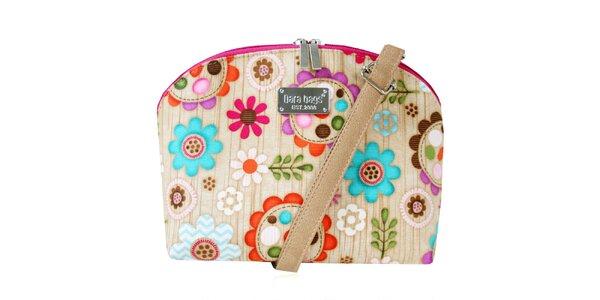 Dámská menší kabelka s barevným květinovým vzorem Dara Bags